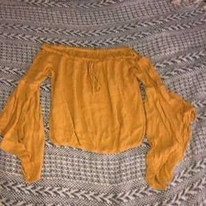 Yellow flow Charlotte Russe top
